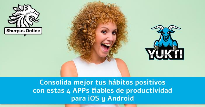 Consolida mejor tus hábitos positivos con estas 4 APPs fiables de productividad para iOS y Android